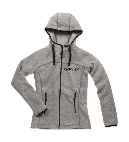 CAMPSTER WOMAN LOGO FLEECE JACKET